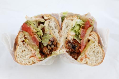 Oyster po' boy  Cheeky Sandwiches  Orchard St  Manhattan