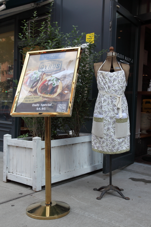 Acme adjustable dress form (manufactured by Ellanam Adjustable Forms  378 Throop Ave  Brooklyn 21)  Elysian Fields Cafe  Amsterdam Ave  Manhattan