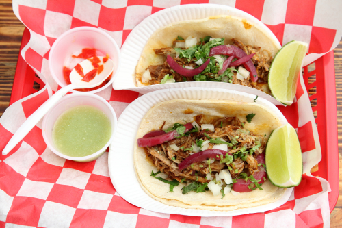 Cochinita pibil tacos  Tlaxcal Kitchen  Elmhurst  Queens