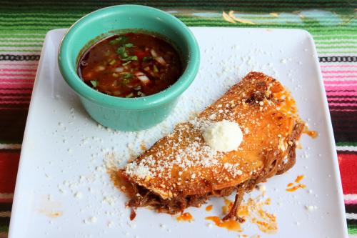 Consomé and taco de birria  La Frontera  Mott Haven  Bronx