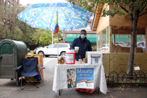 Colombian masato vendor  Jackson Heights  Queens