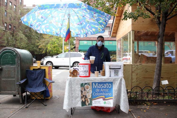 Colombian masato vendor  Jackson Heights  Queens