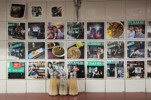 Photo wall (detail)  Punjabi Grocery & Deli  East 1st St  Manhattan