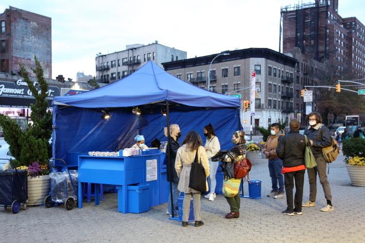 Elva Meneses food stand  Prospect Park South  Brooklyn