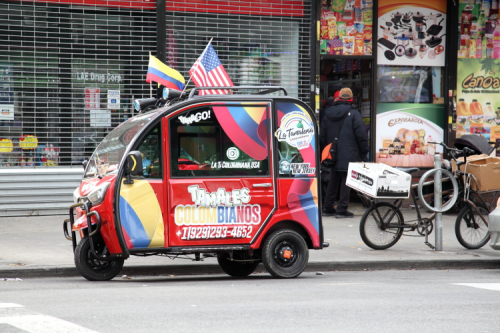 Tamales Colombianos delivery cart  Jackson Heights  Queens