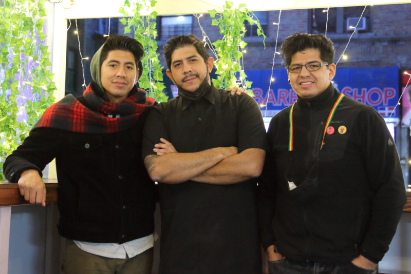 David  Patrick  and Alex Oropeza  Bolivian Llama Party  Sunnyside  Queens