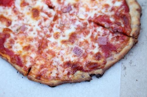 Lard bread pizza  Mazzola Bakery  Carroll Gardens  Brooklyn