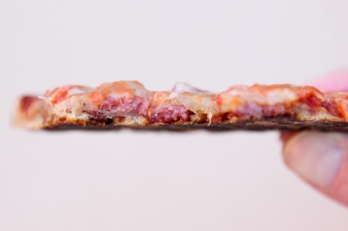 Lard bread pizza (cutaway view)  Mazzola Bakery  Carroll Gardens  Brooklyn