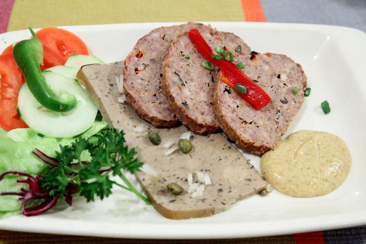 Venison meatloaf and goose pate  Koliba  Astoria  Queens