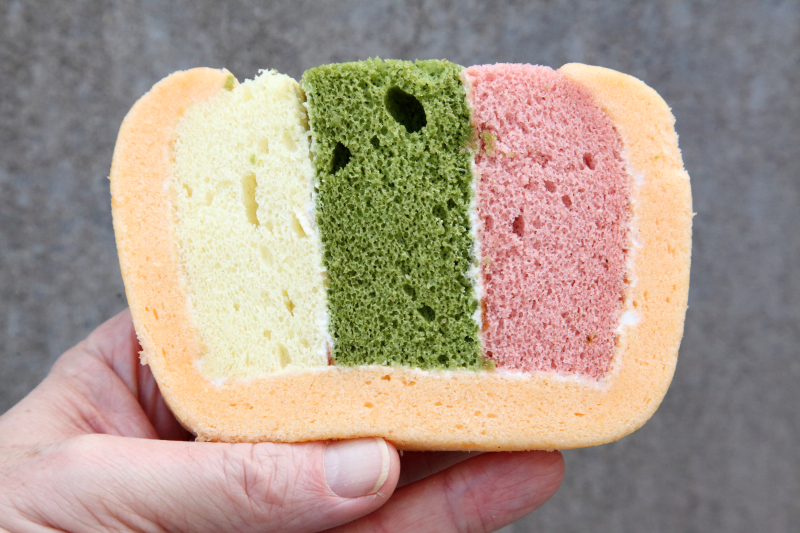 Rainbow cake slice  Yeh's Bakery  Flushing  Queens