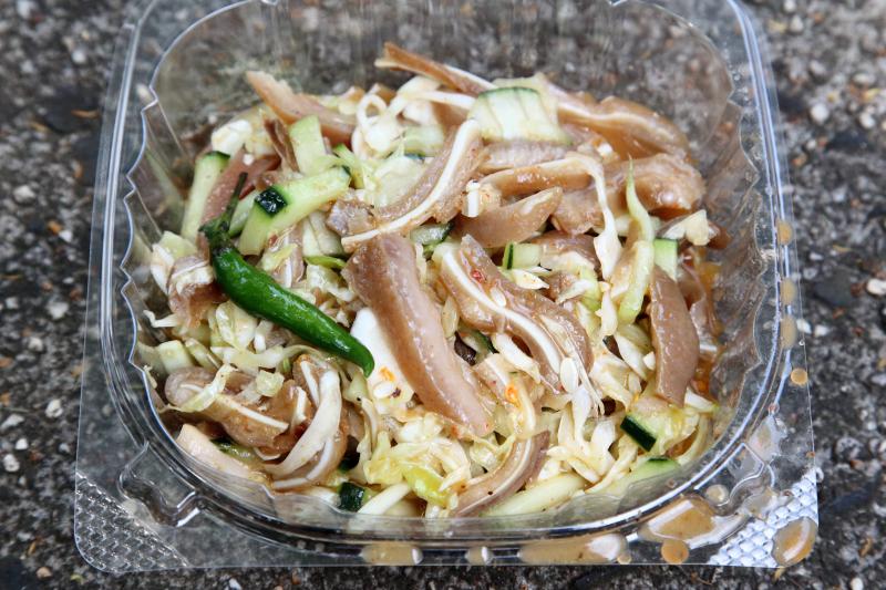 Pig ear salad  Burmese fundraising bazaar  St James Episcopal Church  Elmhurst  Queens