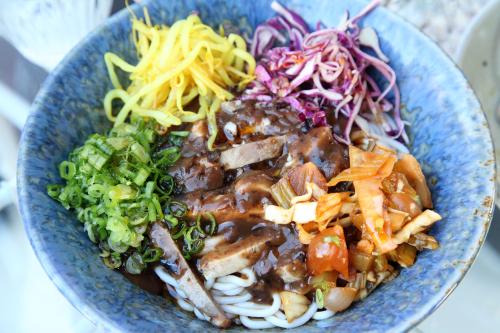 Mee shay khaut swe  spicy meeshay noodles (with pork; unmixed)  Rangoon  Prospect Heights  Brooklyn