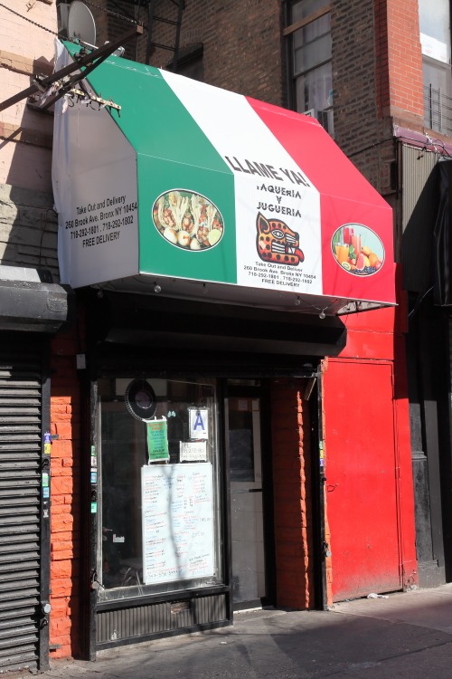 Llame Ya with tricolor awning  Mott Haven  Bronx