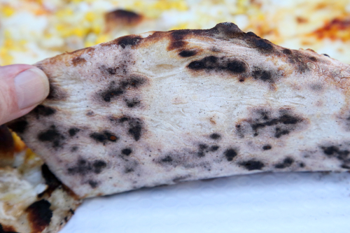 Corn pie (underside)  Razza Pizza Artigianale  Jersey City