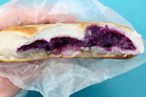 Purple yam bing (biteaway view)  Delicious Jin  Landmark Quest Mall  Flushing  Queens
