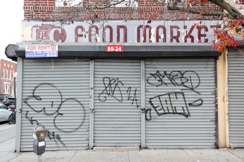 Surviving signage  the former I&C Food Market  Bensonhurst  Brooklyn