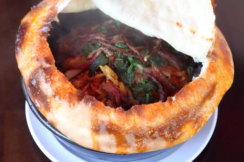 Chicken dum biryani (unopened)  Angel Indian Restaurant  Jackson Heights  Queens