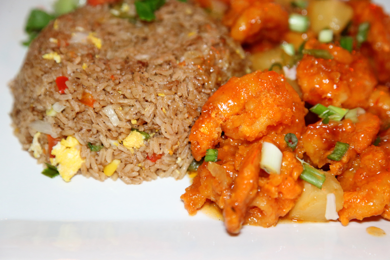 Sweet and sour shrimp fried rice  GT Kingston Diner  Richmond Hill  Queens