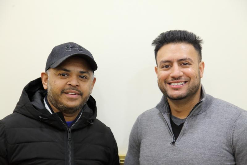 Tozammel Tanzil and Khaled Khan  Boishakhi Restaurant  Ozone Park  Queens