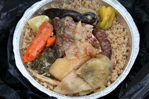 Thieboudienne (white)  220 African Restaurant  Wakefield  Bronx