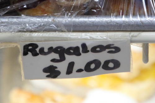 Rugalos  handwritten label  Jacqueline's Bakery  Soundview  Bronx