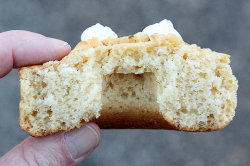 Sour cream doughnut (biteaway view)  Gonuts Doughnuts  Elmhurst  Queens