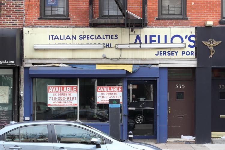 Italian specialties  surviving signage  Aiello's  Carroll Gardens  Brooklyn