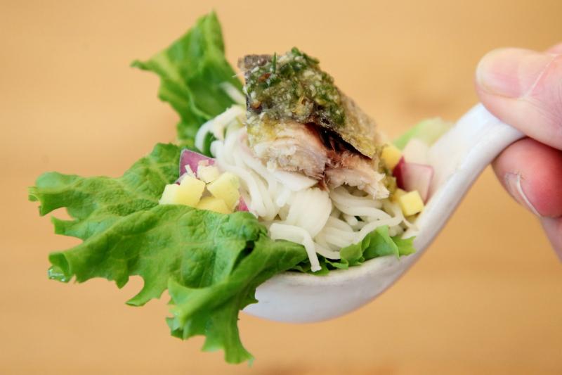 Miang pla too  mackerel lettuce wrap  Boran  Carroll Gardens  Brooklyn