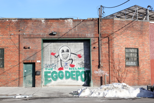 The Nelms Egg Depot  hand-drawn signage  Soundview  Bronx