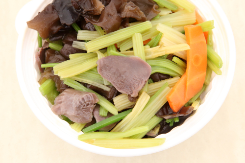 Duck gizzard and celery  Huang Jin Jiao  New York Food Court  Flushing  Queens