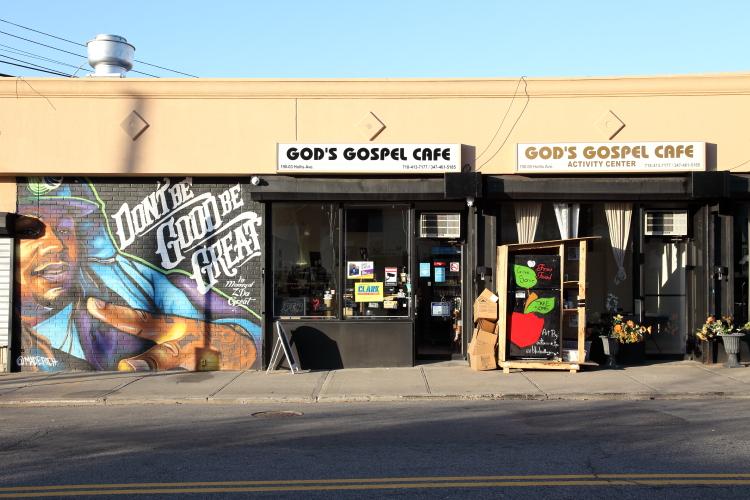 God's Gospel Cafe  its activity center  and the Queens Village Community Fridge  Hollis  Queens