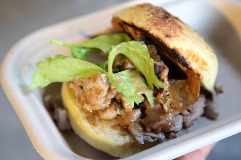 Lechon sandwich  Bad for Business popup  Woodside  Queens
