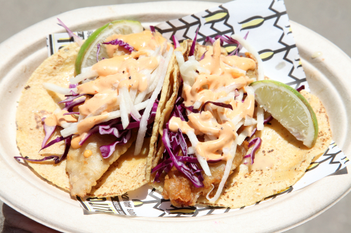 Crispy fish tacos  Carlito's Barbecue Taqueria  Smorgasburg  Jersey City