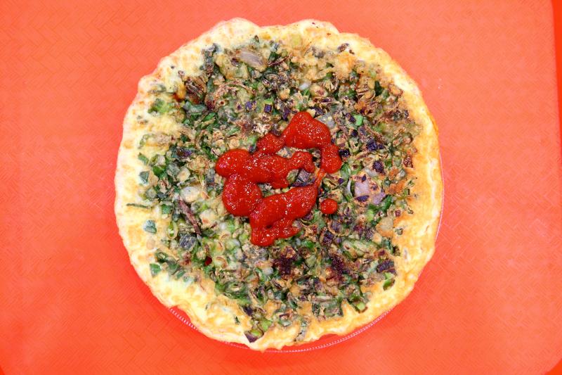 Oyster omelette  Minnan Xiaochi  New York Food Court  Flushing  Queens