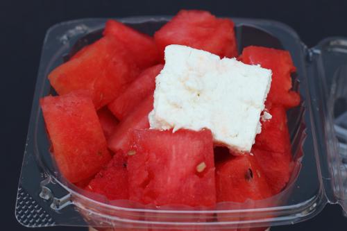 Watermelon and feta  Kehila Kedosha Janina Greek-Jewish Festival  Broome St  Manhattan