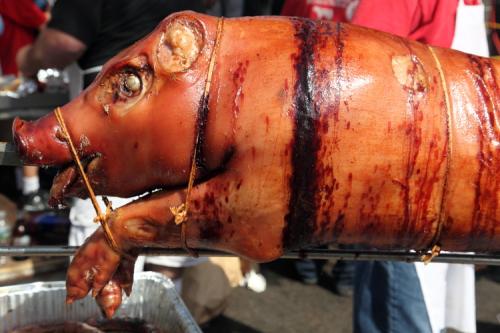 Spit-roasted pig  Ferragosto  Belmont  Bronx