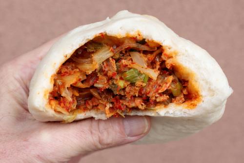 Pork and kimchi wang mandoo  Northern Wang Mandoo  Murray Hill  Queens CB