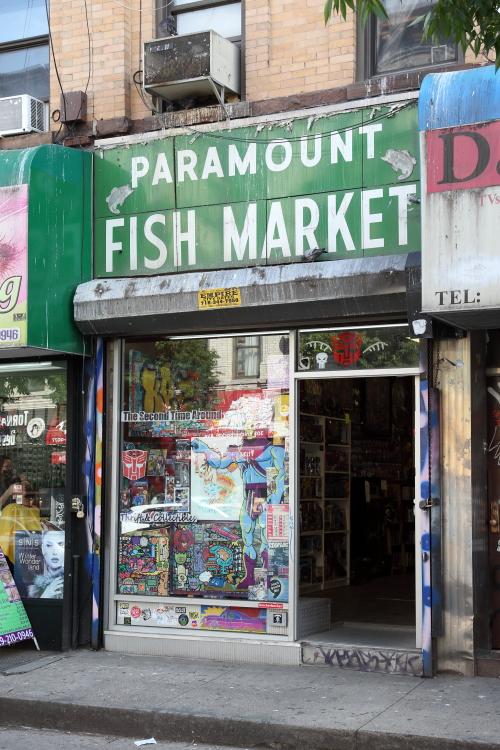 Paramount Fish Market  surviving signage  The Second Time Around  Bushwick  Brooklyn