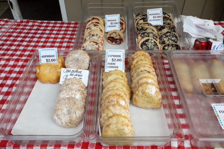 Display of sweet pastries  Tatar Bakery & Pies  Brighton Beach  Brooklyn