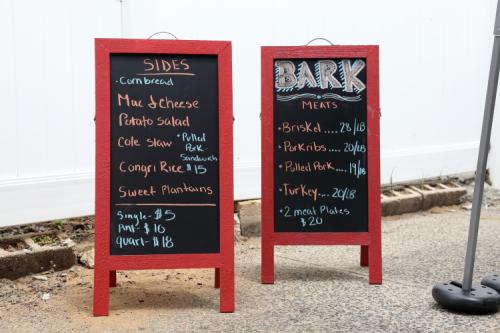 Handwritten menu boards  Bark Barbecue  Ozone Park  Queens