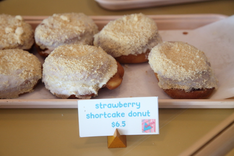 Strawberry shortcake donuts (pampushky)  Dacha 46  Prospect Heights  Brooklyn