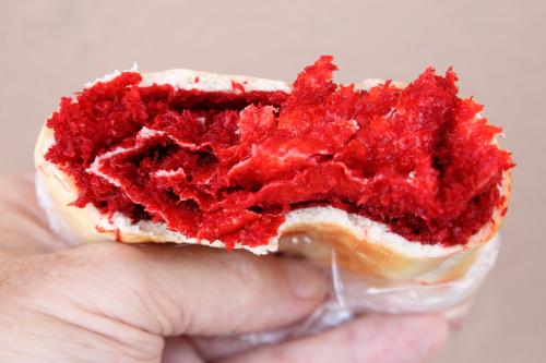 Red roll (salara; tearaway view)  Bakewell Bakery & Restaurant  Richmond Hill  Queens